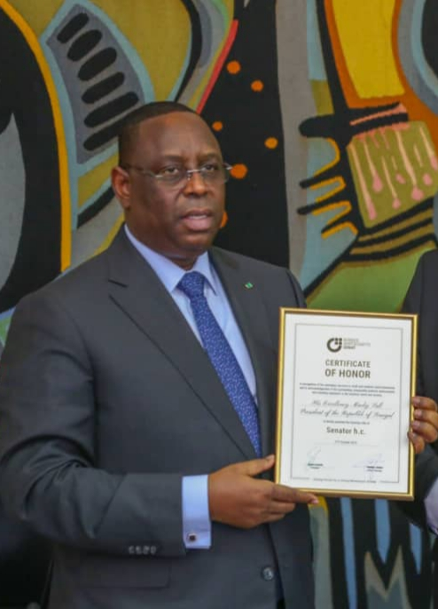 President of Senegal awarded Honorary Senator of THE MITTELSTAND BVMW