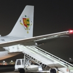 Welcoming our honorary guest at arrival : President Macky Sall of Senegal