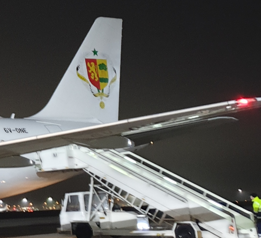 Welcoming our honorary guest at arrival : President Macky Sall ofSenegal