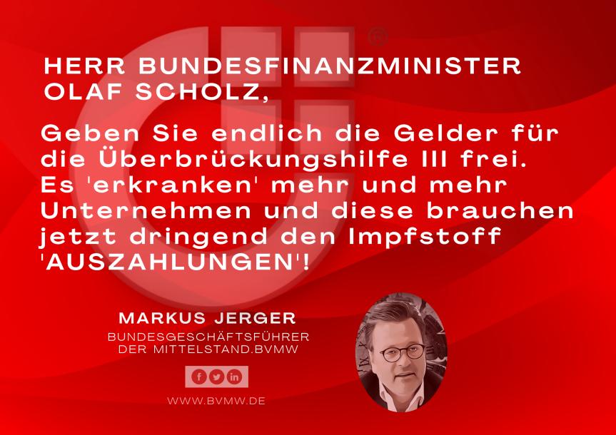 Dringende Nachricht an OLAF SCHOLZ: