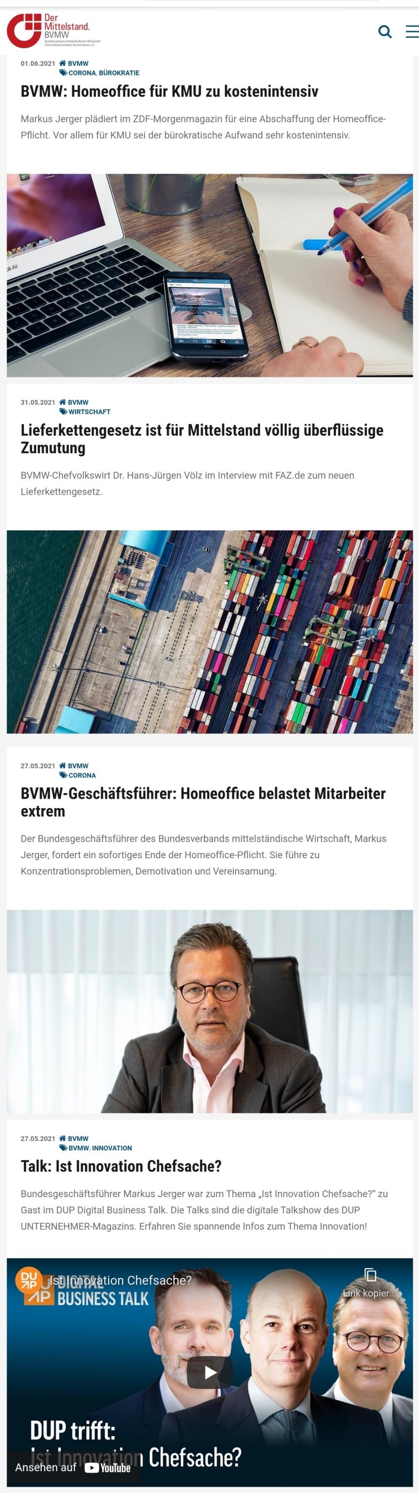 Infoportal für den Mittelstand… WWW.BVMW.DE