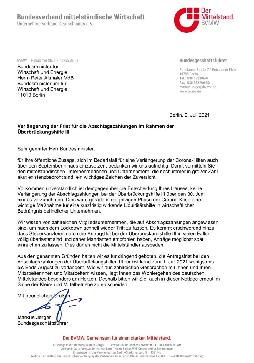 Mittelstand fordert vonAltmaier…