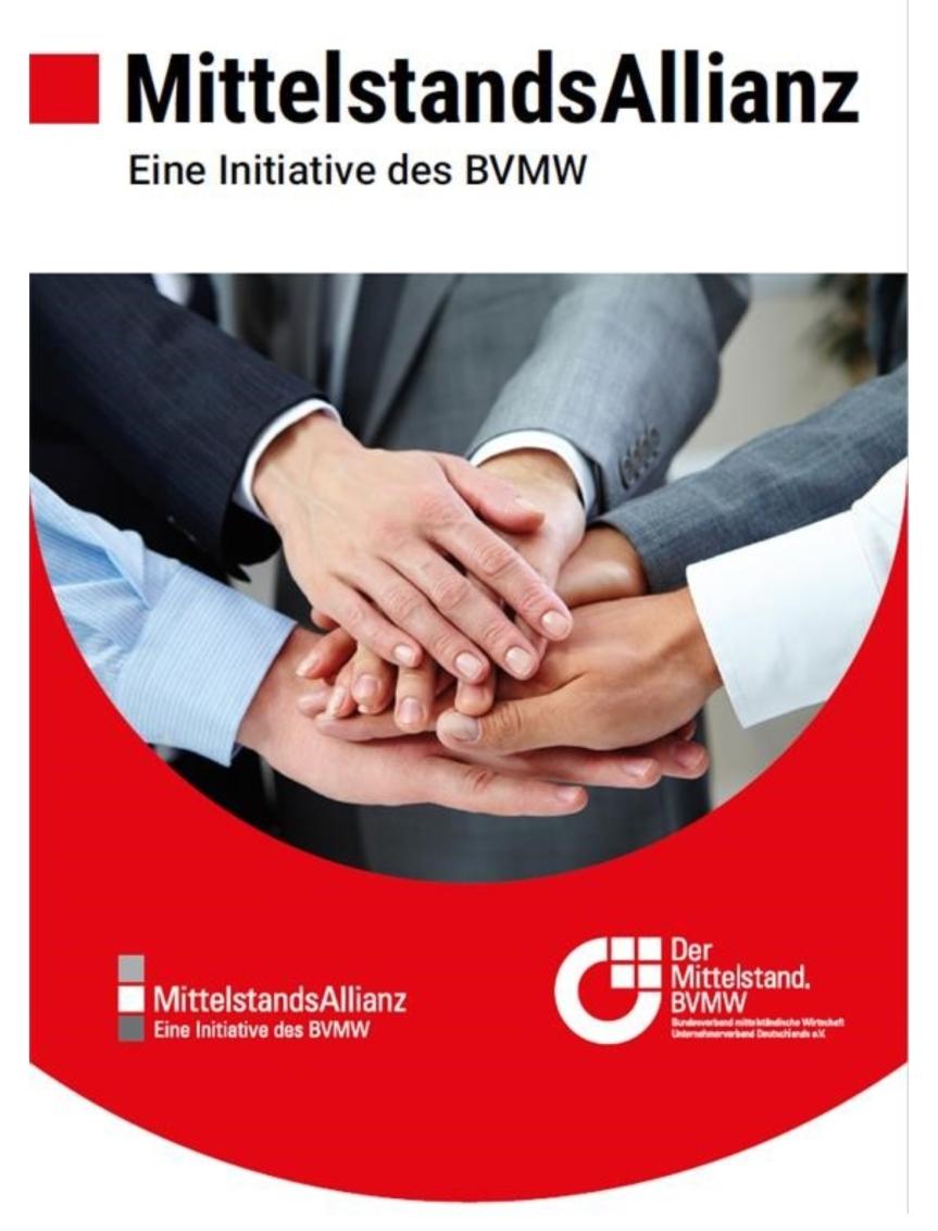 Nächste Bundesregierung muss mittelstandsfreundlicher werden / Mittelstandsallianz stellt 12-Punkte-Plan zur Bundestagswahlvor